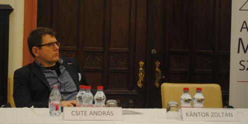 Csite András az Országgyűlés Nemzeti Összetartozás Bizottságának ülésén