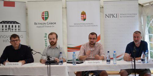 Csite András és Piross Antal előadása Tusványoson