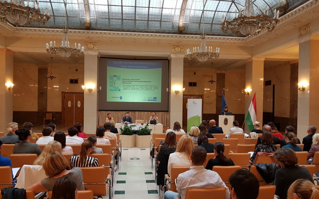 Konferencia a szociális szempontok alkalmazhatóságáról a közbeszerzésben